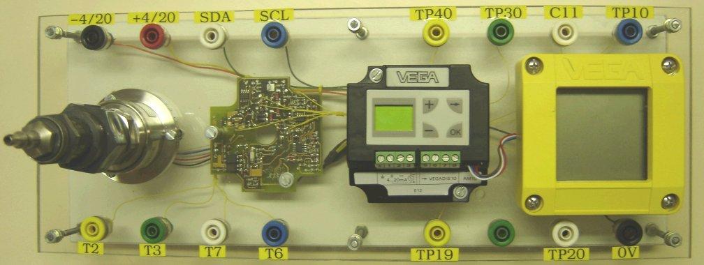 maquette avec sonde, carte CMS, module de réglage et afficheur